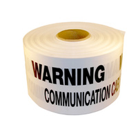 Communications Underground Warning Tape 100mtr Roll
