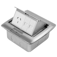 ECD Floor/Desk Pop Up Box with Auto Switch GPO & 2 Keystone Data Mounts
