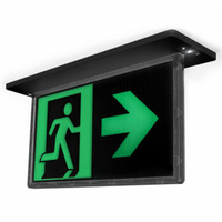 Ektor Razor Recessed Blade 24M Black Emergency Exit Sign