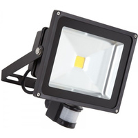 20W LED Flood Light (Daylight) IP65 + PIR Motion Sensor