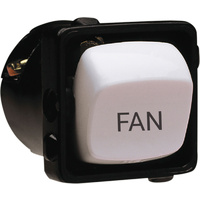 HPM Excel 10A Engraved 'Fan' Switch Mechanism White