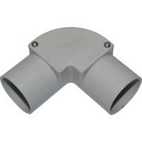 25mm Inspection Elbow Grey