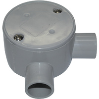 Junction Box Shallow 20mm Right Angle Entry