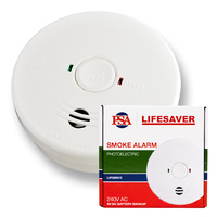 240VAC Photoelectric Smoke Alarm with 9V Battery Backup