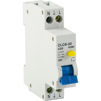 RCD / MCB Safety Switch 1 Pole 3kA