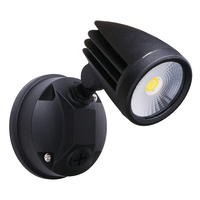 Martec Fortress II 15W LED Single Exterior Security Light Black