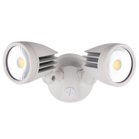 Martec Fortress II 30W Tricolour LED Double Exterior Security Light White