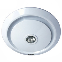 Gyro Round Exhaust Fan With LED Light White