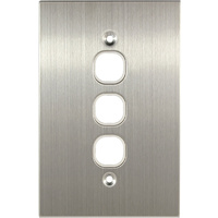 Connected Switchgear Stainless Steel 3 Gang Plate