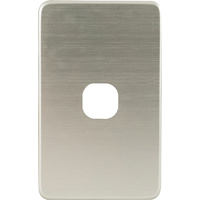 QCE Slimline 1 Gang Switch Brushed Silver Metal Cover