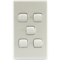 CHT Five Gang Switch 15A