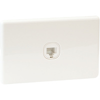 QCE Slimline Data & Telephone Outlet - RJ45 Socket
