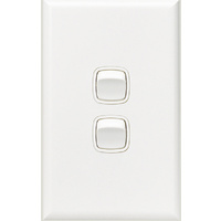 HPM Excel 2 Gang Light Switch