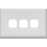 HPM Excel 3 Gang Light Switch White Cover