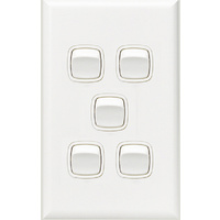 HPM Excel 5 Gang Light Switch