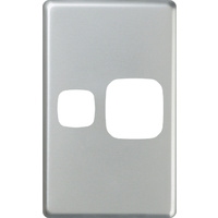 HPM Excel Vertical Single Powerpoint Matt Silver Metal Cover