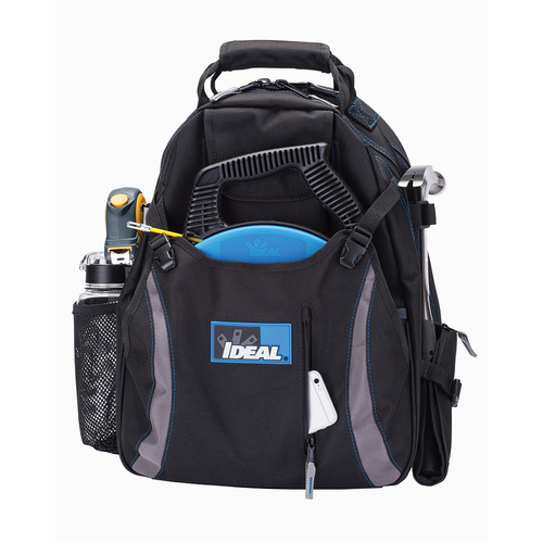 """IDEAL 18"""" Dual Compartment Tool Backpack Black"""