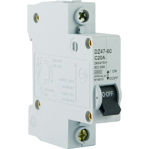 Single Pole Circuit Breaker 4.5kA [ 25A ]